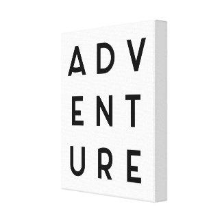 Citações minimalistas da aventura impressão em canvas