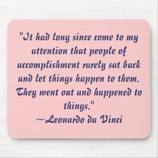 Citações Mousepad de Leonardo da Vinci