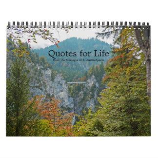 Citações para a opção F do calendário da vida