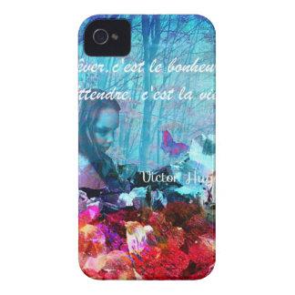 Citações sobre a felicidade em francês capa para iPhone