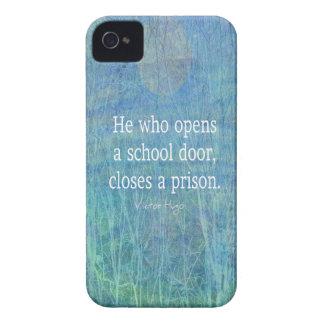 Citações Victor Hugo do ensino do professor da Capas Para iPhone 4 Case-Mate