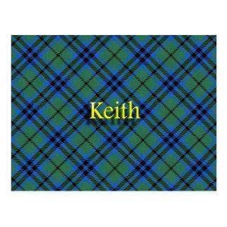 Clã escocês Keith Cartão Postal