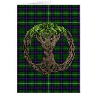 Clã MacDonald das ilhas Tartan e da árvore do célt Cartoes
