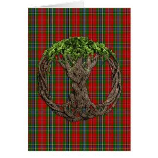Clã MacLean do Tartan de Duart e da árvore do célt Cartao