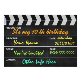 clap cinema convites personalizado