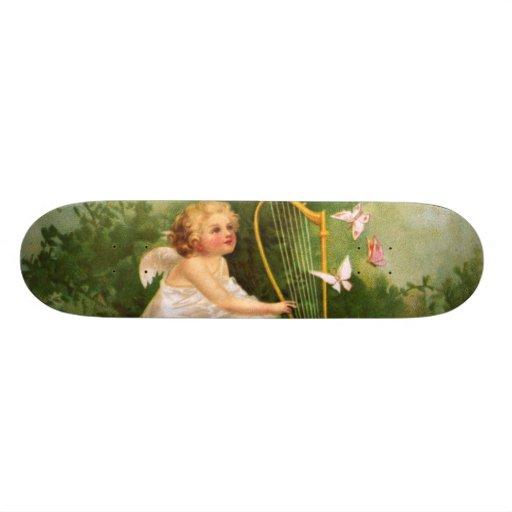 Clapsaddle: Anjo que joga a harpa Skateboard