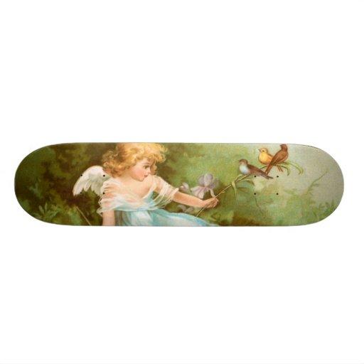 Clapsaddle: Anjo que joga com pássaros Skates