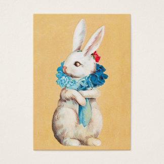 Clapsaddle: Menina de coelhinho da Páscoa com Cartão De Visitas