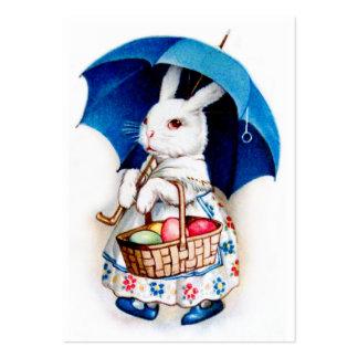 Clapsaddle: Menina de coelhinho da Páscoa com guar Cartão De Visita Grande