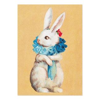 Clapsaddle: Menina de coelhinho da Páscoa com pavã Cartão De Visita