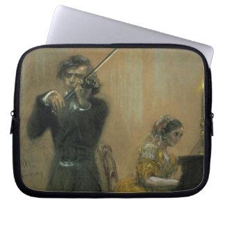 Clara Schumann (1819-96) e um violinista, 1854 (pa Bolsas E Capas Para Computadores