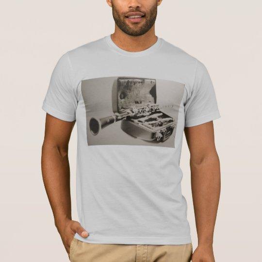 Clarineta em sépia camiseta
