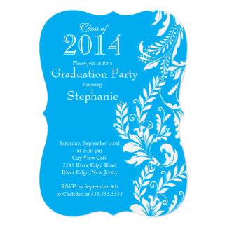 Classe branca azul elegante da festa de formatura convite