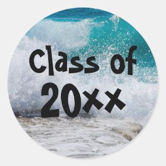 Classe da etiqueta 2018 da graduação do surf das
