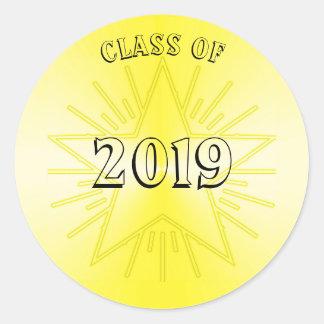 Classe da etiqueta 2019 da estrela do ouro por