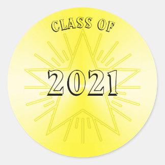 Classe da etiqueta 2021 da estrela do ouro por