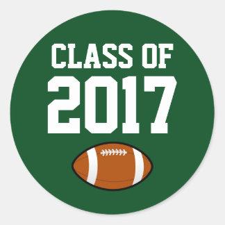 Classe da graduação da etiqueta do jogador 2017 de