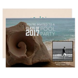 Classe da praia | da festa na piscina da graduação convite 12.7 x 17.78cm