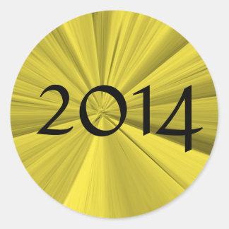 Classe de 2014 etiquetas redondas por Janz