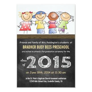 Classe de 2015 poucas crianças dos desenhos convite 8.89 x 12.7cm