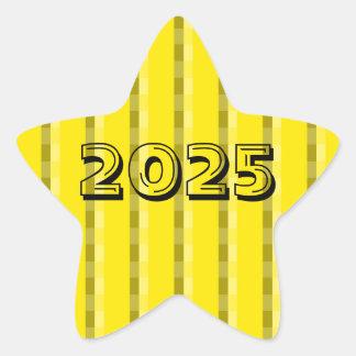Classe de 2025 claros - etiqueta amarela da
