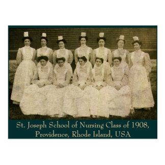 Classe de escola de enfermagem de St Joseph de Cartão Postal