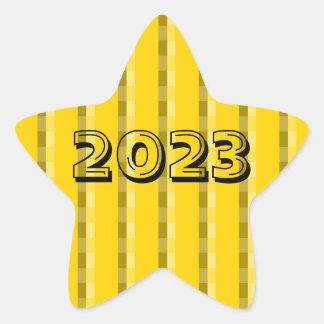 Classe de etiqueta amarela escura da estrela 2023
