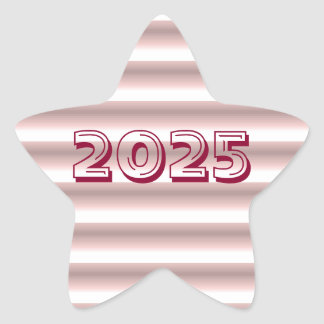 Classe de etiqueta cor-de-rosa da estrela de 2025