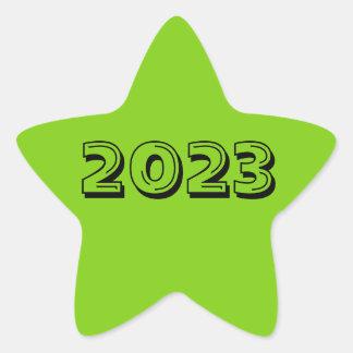 Classe de etiqueta da estrela do verde 2023