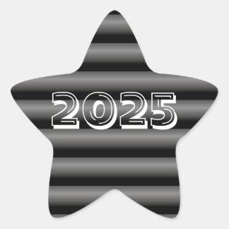 Classe de etiqueta preta da estrela de 2025