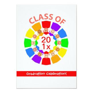Classe… de flor do arco-íris convite 12.7 x 17.78cm