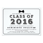 Classe de graduação pipe% retro da tipografia de convite 12.7 x 17.78cm