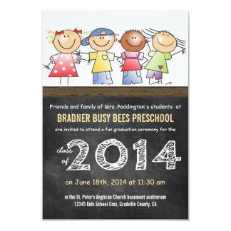 Classe de Pre-K do formando 2014 do quadro Convite 8.89 X 12.7cm