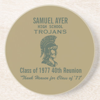 Classe de Samuel Ayer 'de 40th lembrança da Porta Copos De Arenito