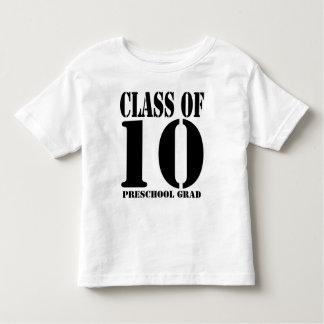 Classe de t-shirt pré-escolar do formando 2010