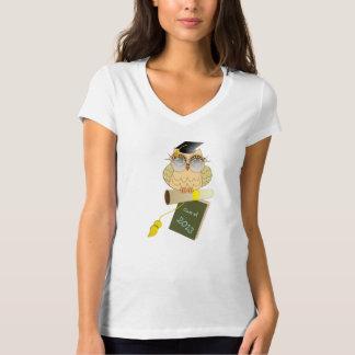 Classe de t-shirt sábio de Garduation da coruja Camiseta