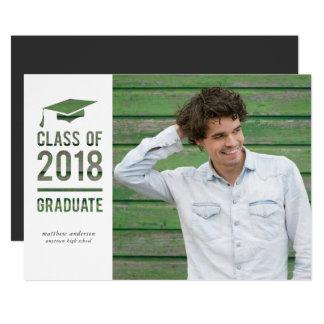 Classe do anúncio 2018 do convite da graduação
