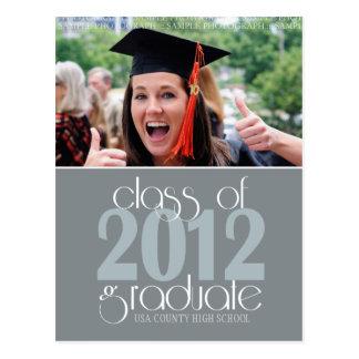 Classe do cartão 2012 do anúncio da graduação