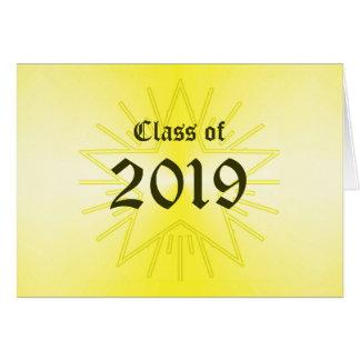 Classe do cartão 2019 do anúncio da graduação por