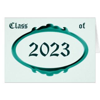 Classe do cartão 2023 do anúncio da graduação por