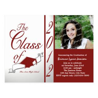 Classe do vermelho 2012 do convite da foto
