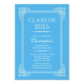 Classe elegante formal da festa de formatura 2015 convite 12.7 x 17.78cm
