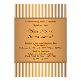 Classe formal superior 2099 do baile de formatura, convite 12.7 x 17.78cm