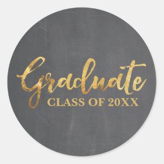 Adesivo Redondo Classe graduada de 2017 etiquetas das cinzas e do