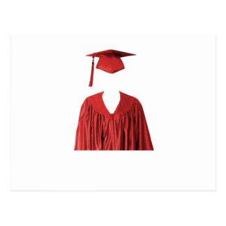 Classe graduada do boné e do vestido Template1 Cartao Postal