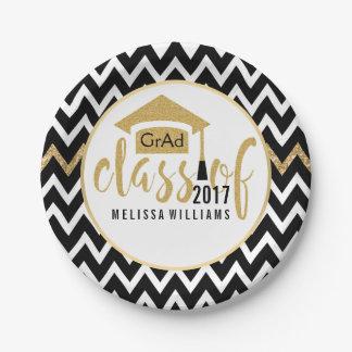 Classe preta & branca de Chevron do brilho 2017 do
