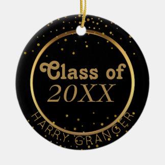 Classe preta feita sob encomenda da graduação do ornamento de cerâmica