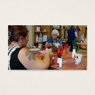 classes do artesanato dos upcrafts do desperdício cartão de visitas