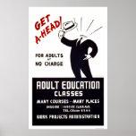 Classes do ensino para adultos WPA 1938 Posters