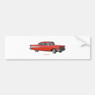 Classic_1957_Chevrolet_Red_texturizer Adesivo Para Carro